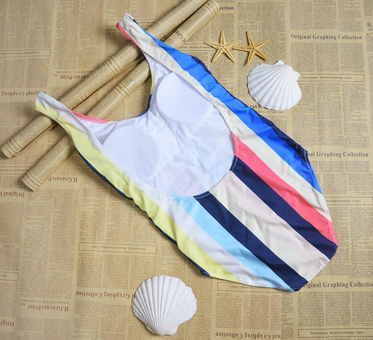Multicolor One-Piece Suits Swimwear Bikinis Set 16