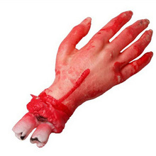 Hot Decoration Fake Latex Hand Scary Bloody Blood for Halloween Props Costume