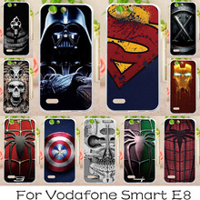 AKABEILA Soft tpu Phone Cases For Vodafone Smart E8 VFD510 VFD-510 5.0 inch Covers Cases Back Painted Silicone Spider-Man Bags(China)