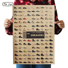 TIE LER Sneakers Nostalgia Old Retro Kraft Poster Advertising Poster Vintage Decorative Painting Wall Sticker