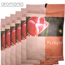 6PCS/lot Aromania Fresh Tulips Scented Sachet Fragrance Drawer Sachet Bag For Bedroom Car Flavor Fragrance Indian(China)