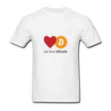 Buy Love Bitcoin Cryptograrhy Trust Men T Shirt 2018 Creative Design Bitcoin short Sleeve Color diversified couple T-shirts for $6.05 in AliExpress store