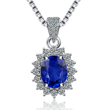 Heart of ocean High Quality blue CZ cubic zircon Pendant silver plated For Vintage Women Charm Fashion Jewelry Gift