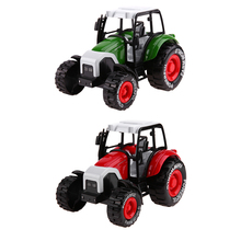 1:32 Alloy Engineering Pull Back Car Toy Tractor Model Farm Vehicle Boy Toy Car Model with Music Light(China)