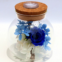 F076 Eternal Life Flower Glass Cover Flowers Rose Birthday Valentine's Day Creative Gift