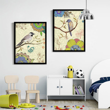 Beautiful bird painting decorative painting modern living room wall poster abstract creative canvas painting decor gift
