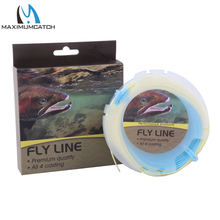 Maximumcatch Fly Fishing Line Floating 3-8WT Beige & Blue Weight Forward Fly Line
