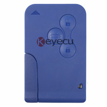 Keyecu New Blue Remote Key Fob 3 Button 433MHz PCF7947 for Renault Megane Scenic Clio(China)