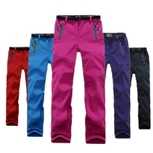 AD095 Female Trousers Outdoor Leisure Trousers Warm Color Soft Shell Pants 2017 New Camping hiking Ski Pant Women
