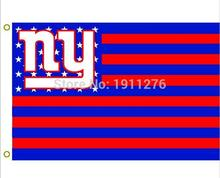 New York Giants USA NFL Premium Team Football Flag NY Hot sell goods 3X5FT 150X90CM Banner brass metal holes(China)