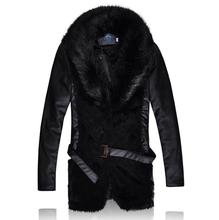 New Mens Faux Fur Coats Imitation Mens Mink Coat Winter Leather Jacket Mens Fur Collar Coat Mens Winter Leather Jackets Leisure