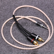 1M Viborg OCC Copper and Silver Plated hifi audio cable 2 rca to 3.5MM hifi 1 to 2 audio video cable