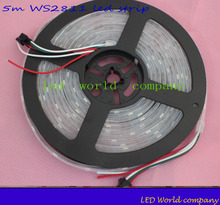 WS2811 led strip 5m 30/48/60 leds/m,IP30/65/67,10/16/20 pcs ws2811 ic/meter,DC12V white PCB, 2811 led strip Addressable Digital(China)