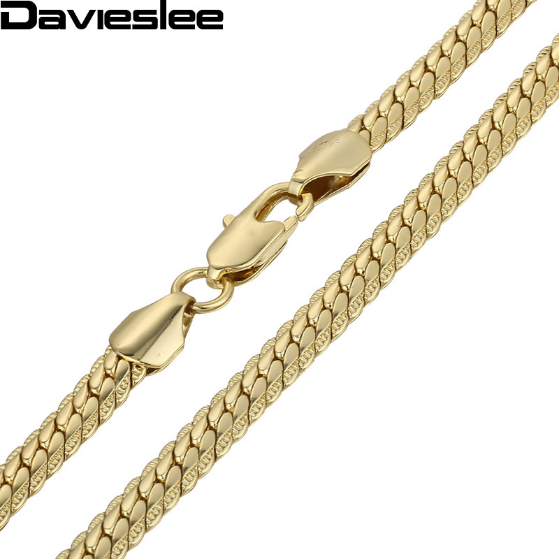 6mm Boys MENS Chain Hammered Flat CLOSE Curb White Yellow Rpse Gold Filled Necklace Chain Bulk Price Wholesale Gift LGN399(China (Mainland))