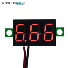 0.36 Inch Mini Digital LED Display Voltmeter Red Panel Voltage Meter DC 4.7~32V 3-Digit Display Adjustment Voltmeter