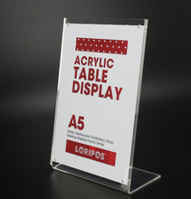 210*148mm A5 L strong magnetic advertising tag sign card display stand Acrylic table Desk menu price Label Holder Stand(China)