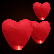Random Color Hot Air Balloon Kongming Lantern Flying Wishing Lamp Cute Love Heart Sky Lantern Party Favors For Birthday Party