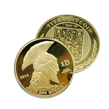2014 One Physical Bitcoins Gold Plated Coins MEDAL USA US UK DOLLAR MONEY DIGITAL LITECOIN okcoin MARKS EUROS btc(China)