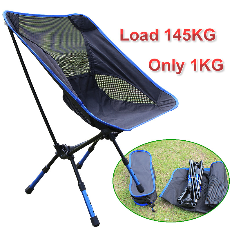 New Portable Folding Chair Aluminum Camping Fishing Chair with Backrest Carry Bag 4 color Chairs<br>