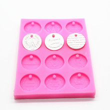 Wholesalel,free shipping,  P479 coins listed silicone mold gypsum wax film aroma ornaments mould baking tool
