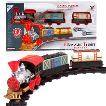 Classic Railroads Transport Train Toys Electric Rail Train Models Track Toy for Kids with Retail Box(China)