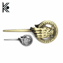 free shipping Game of Thrones Song of Ice and Fire Brooch Hand of the King Lapel Inspired Authentic Prop Pin Badge Brooches(China)