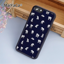 MaiYaCa Indian Baby Elephants in Navy fashion soft mobile cell Phone Case Cover For iPhone 5 5S SE Custom DIY cases luxury shell(China)