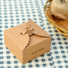 20pcs Kraft Paper Wedding Candy Boxes Sweet  Holder Birthday Party Gift Favor Chocolate Biscuit Cookie  Box