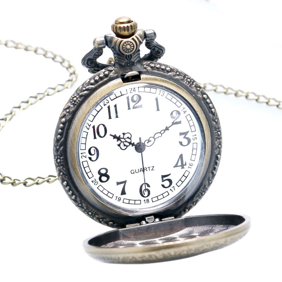 Antique Steampunk ACDC Hells Bell Quartz Pocket Watch Necklace Pendant Retro Men Women Xmas Gift (3)