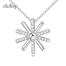 hot selling jewelry from Descendants of the sun white gold color plated designer jewellery brands with Austrian crystal