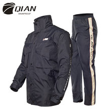 QIAN RAINPROOF Professional Adult Outdoor Raincoat Thicker Slicker Heavy Water Rain Gear Motorcycle Rainsuit High Quality