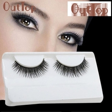 2017 Hot  Natural Long Beauty Dense A Pair False Eyelashes Attractive Black Fibre Eyes Lashes for Party Date Mar6