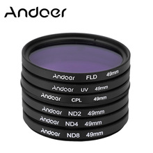Andoer 49mm UV+CPL+FLD+ND Photography Filter Kit Set Polarizing Fluorescent Neutral Density for Nikon Canon Sony Pentax DSLRs(China)