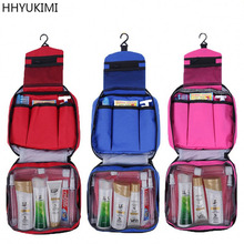 HHYUKIMI Waterproof Travel Washbag Folding Wash Bag Can Be Hanging Cosmetics Bag Makeup Artist Cosmetic Bag Make Up Organizer