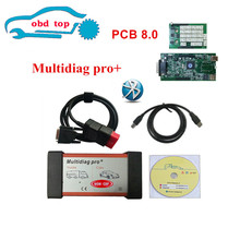 Red interface Multidiag Pro+Nec relays Double Green PCB Boards with Bluetooth Auto OBD2 OBDII Cars&Trucks(China)