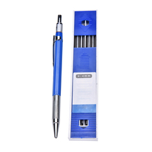 1pc 12 Leads Refills 2mm 2B  lead mechanical pencils Plastic Metal shell Automatic Draw Drafting Pencil   stationery writing