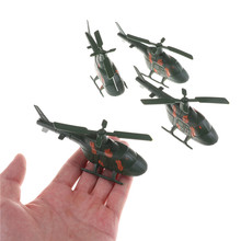 3D Fighter Model Aircraft Paper Model Assemble Kids Toy Military Fighter Planes Sand Table War Helicopter Model Toy(China)