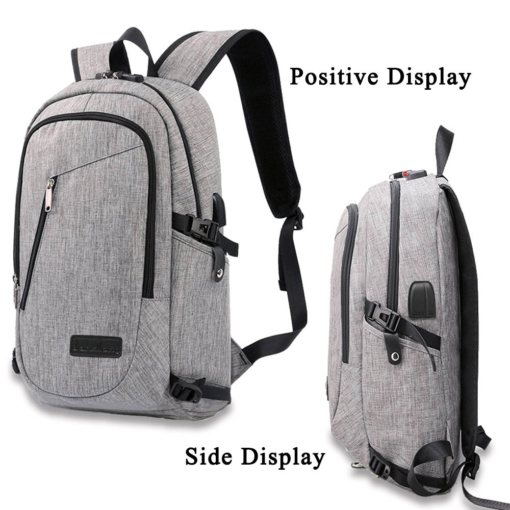 Redlai 16 inch Laptop Bag Anti-theft Waterproof with USB Charging Port Headphone Port Laptop Backpacks For Macbook 15.6 inch
