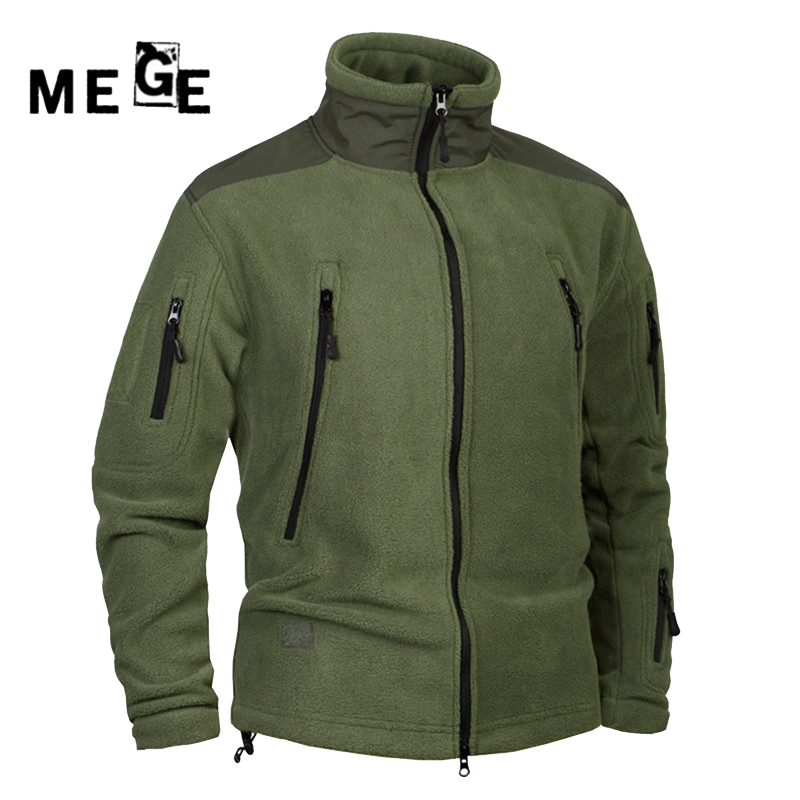 MEGE Men Jackets Fleece Thermal Coat Autumn Winter Clothing , Mens Hunting Camping Hiking Army Training Sportswear Jackets<br>