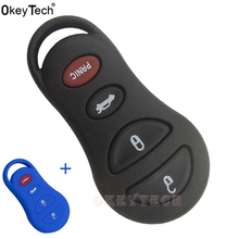OkeyTech 3+1 4 Button Remote smar car Key Fob Shell Case For Chrysler for Jeep Liberty for Dodge Stratus Viper Sebring Concorde(China)