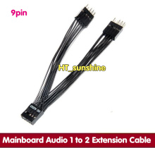 5PCS NEW HD AUDIO motherboard /main board audio 1 to 2 extension cable 26AWG teflon Cable for DIY(China)