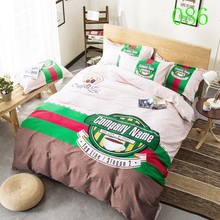 Company Name Home Cotton Bedclothes Set Bedding Set 3/4Pc Bed Linens Duvet Cover Bedroom Cover Bed Sheet Pillowcase Twin Queen(China)