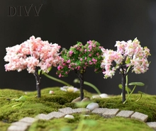 3Pcs Resin Miniature Tree DIY Craft Decoration Accessory Home Garden Decoration accessories Plant Simulation Tree Ornament 3MY17(China)