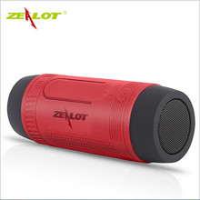 ZEALOT S1 Speaker Portable Bluetooth Wireless Subwoofer Waterproof Bluetooth Speaker LED Light Active Mini Outdoor Speaker TF