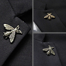 2016 matt Bee metal button anti gold silver brooch Costume Sweater Brooches pin Accessorries jewelry broches bovvsky Fashion