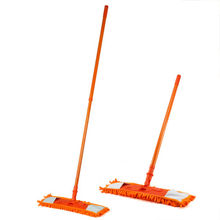 SZS Hot New Extendable Microfibre Mop Cleaner Sweeper Wet Dry - Orange