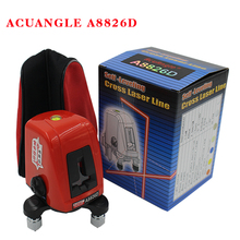 ACUANGLE A8826D 360 degree self-leveling Portable mini Cross Red Laser Levels Meter 2 line 1 point 635nm Leveling Instrument(China)