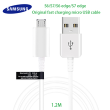 Original Samsung Galaxy S6 S7 Edge Micro USB Cable Fast Charger Car Charging Converter Connector 1.2M 2A Adapter Data Cabel(China)