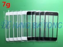 50pcs/lot Replacement LCD Front Touch Screen Glass Outer Lens for iPhone 7 7g 4.7 inch Black/White