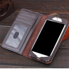 Vintage Wallet Book Case For iphone 5 5S High Quality Retro Pouch Cases With Card Slot Holder Pocket(China)